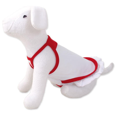 Šaty DOG FANTASY summer bílo - červené XS XS
