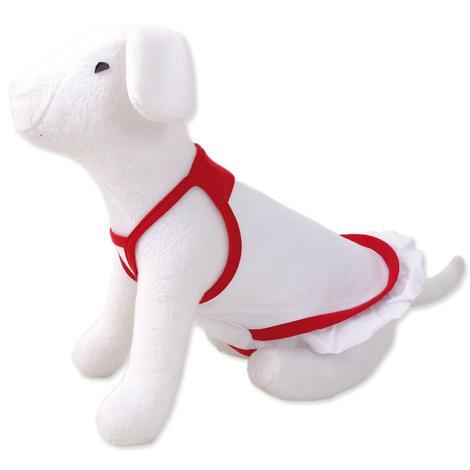 Šaty DOG FANTASY summer bílo - červené S/M S/M