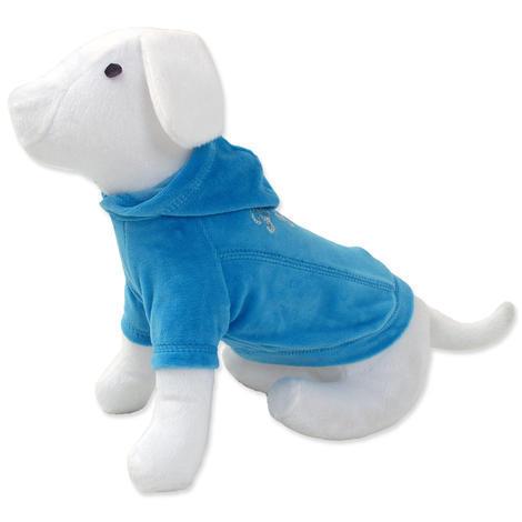 Triko DOG FANTASY s kapucí modré M/L M/L