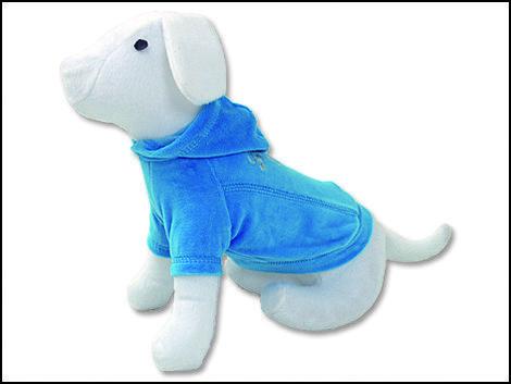 Triko DOG FANTASY s kapucí modré XL XL
