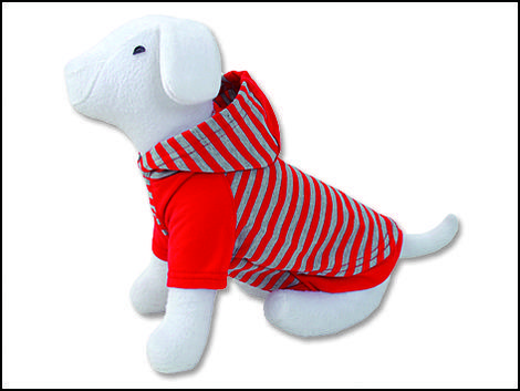 Triko DOG FANTASY s kapucí červené  M/L