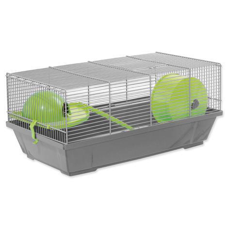 Klec SMALL ANIMAL Erik šedá se zelenou výbavou 50,5 x 28 x 25 cm