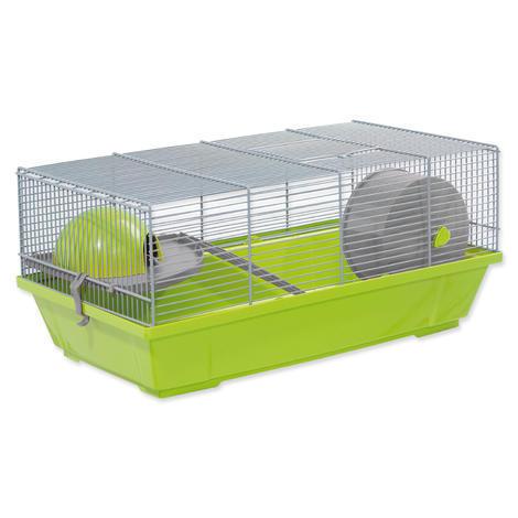 Klec SMALL ANIMAL Erik šedo-zelená se šedou výbavou 50,5 x 28 x 25 cm