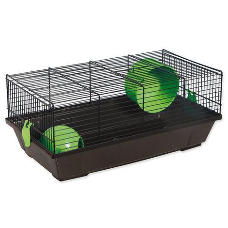 Klec SMALL ANIMAL Viktor černá se zelenou výbavou 50,5 x 28 x 21 cm