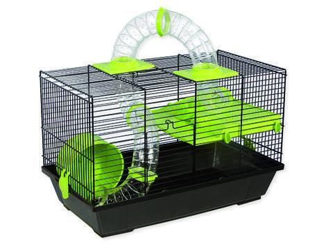 Klec SMALL ANIMAL Patrik černá se zelenou výbavou 50,5 x 28 x 32 cm