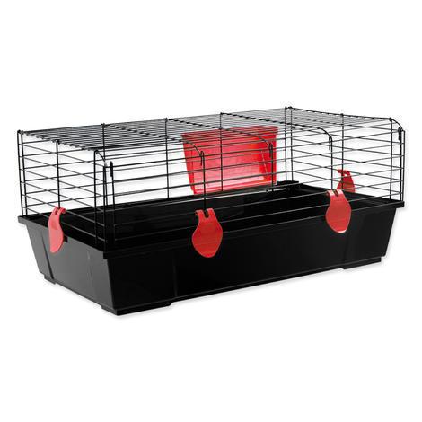 Klec SMALL ANIMAL Ludvík černá s červenou výbavou 58 x 56 x 31 cm