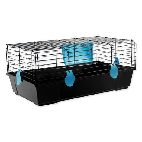 Klec SMALL ANIMAL Ludvík černá s modrou výbavou 58 x 56 x 31 cm