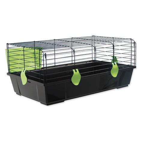 Klec SMALL ANIMAL Michal černá se zelenou výbavou   100 x 55 x 39 cm