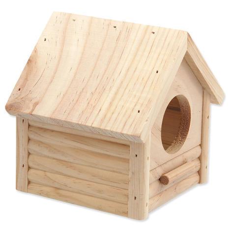 Domek SMALL ANIMAL Budka dřevěný 12 x 12 x 13,5 cm