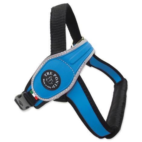 Postroj TRE PONTI reflexní  modrý od 30 do 40 kg