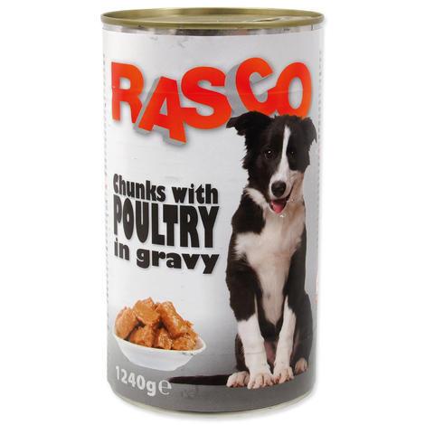 Konzerva RASCO drůbeží kousky ve šťávě 1240g
