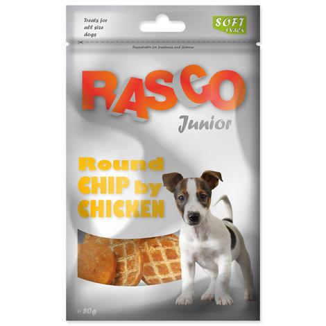 Pochoutka RASCO Junior kolečka z kuřecího masa 80g
