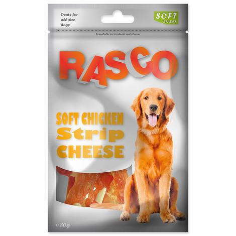 Pochoutka RASCO proužky kuřecí se sýrem 80g