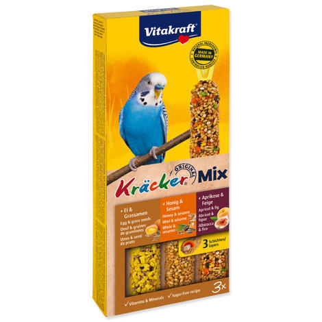 Kracker VITAKRAFT Sittich Honey + Egg + Fruit 3ks