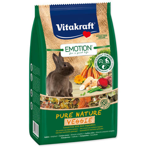 VITAKRAFT Emotion veggie králík  600 g