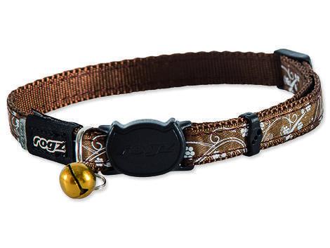 Obojek ROGZ SilkyCat Bronz Filigree S 20 - 31 cm