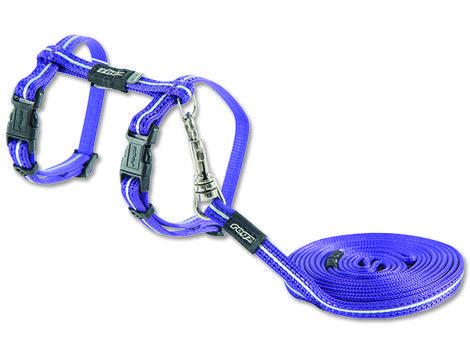 Postroj ROGZ s vodítkem AlleyCat fialový XS 19,8-30 cm, 180 cm