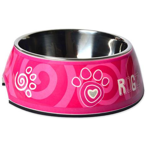 Miska ROGZ Bubble Pink Paw L 700ml