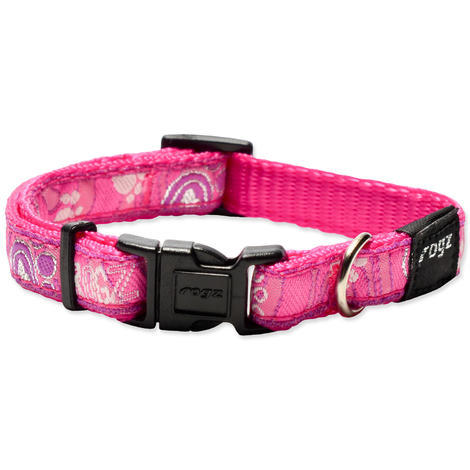 Obojek ROGZ Fancy Dress Pink Paw  S