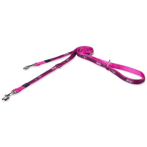 Vodítko ROGZ Fancy Dress Pink Love přepínací M