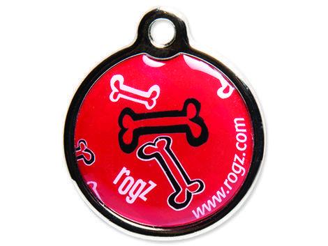 Známka ROGZ Metal Red Bone kovová L