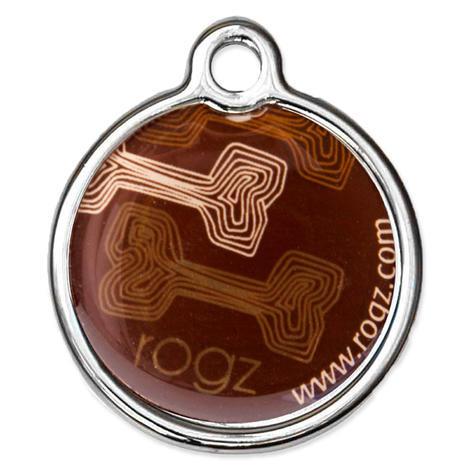 Známka ROGZ Metal Mocha Bone kovová  L