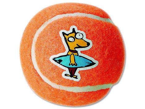 Hračka ROGZ tenisák Molecules oranžový  L