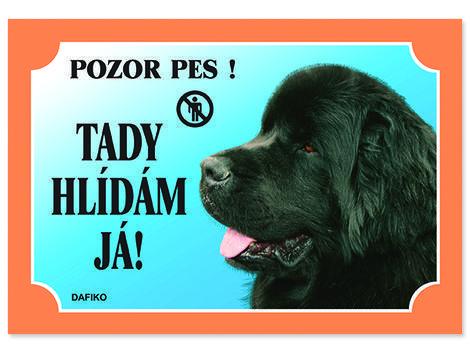 Tabulka DAFIKO novofoundlandský pes černý 21 x 14,5 cm.cm