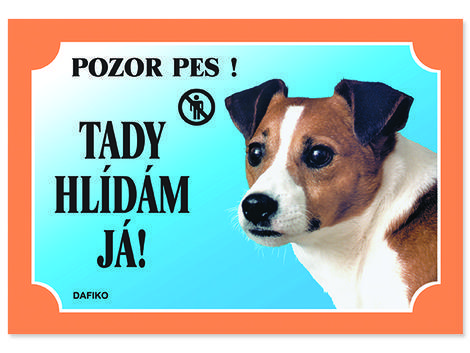 Tabulka DAFIKO jack russel terier 21 x 14,5 cm