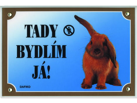 Tabulka DAFIKO králík 21 x 14,5 cm