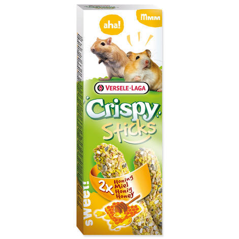 Tyčinky VERSELE-LAGA Crispy s medem pro křečky a pískomily 110g