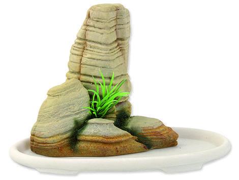 Dekorace AQUA EXCELLENT bonsai + skála 14,1 x 8 x 9,8 cm 14,1 x 8 x 9,8 cm