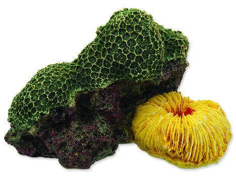 Dekorace AQUA EXCELLENT mořský korál zelenožlutý 1ks