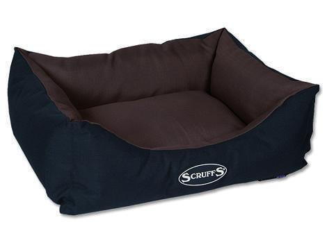 Pelíšek SCRUFFS Expedition Box Bed čokoládový  S