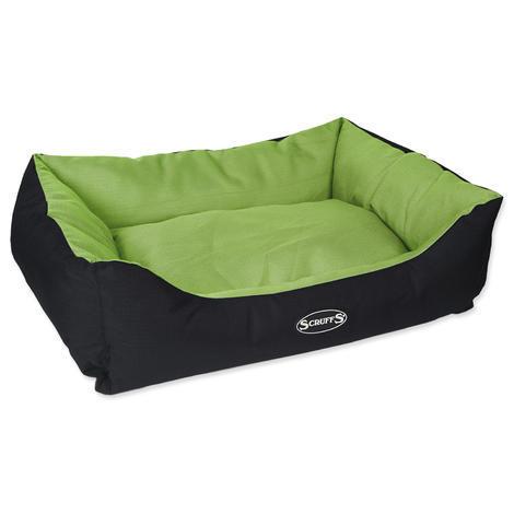 Pelíšek SCRUFFS Expedition Box Bed limetkový  L