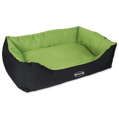 Pelíšek pro psy SCRUFFS Expedition Box Bed limetkový  XL