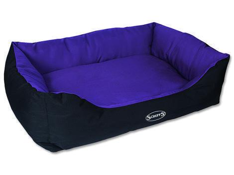 Pelíšek SCRUFFS Expedition Box Bed švestkový  XL