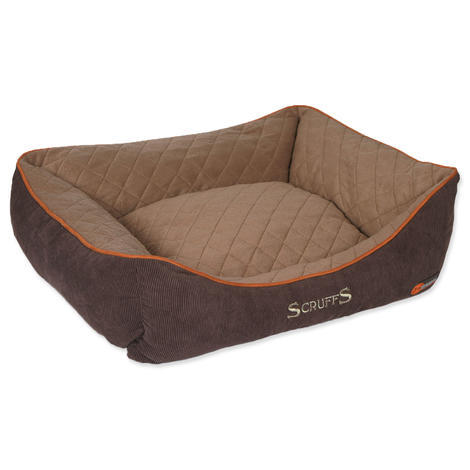 Pelíšek SCRUFFS Thermal Box Bed hnědý  L