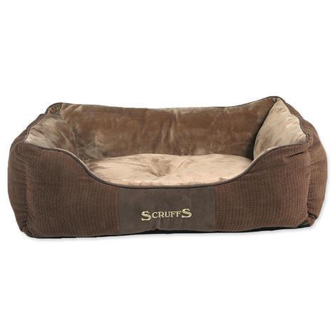 Pelíšek SCRUFFS Chester Box Bed čokoládový   L