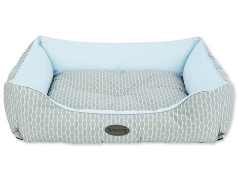 Pelíšek SCRUFFS Siesta box bed světle modrý  XL