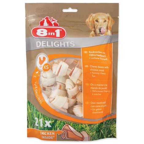 Kosti 8in1 Delights žvýkací bag 21ks XS