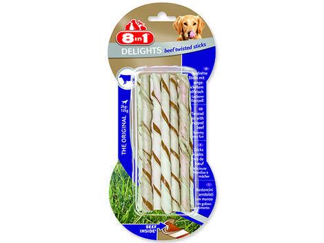 Tyčinka 8in1 Beef Delights kroucená žvýkací 55g
