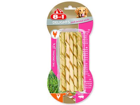Tyčinka 8in1 Pork Delights kroucená žvýkací 55g