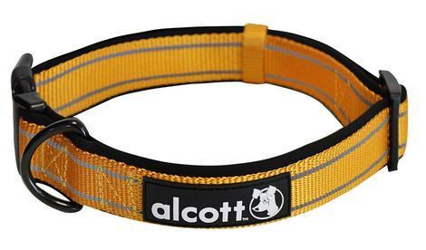 Alcott reflexní obojek pro psy oranžový, velikost