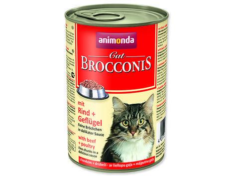 Konzerva ANIMONDA Brocconis hovězí + drůbeží směs 400g