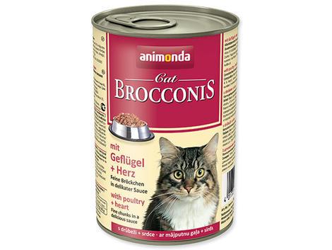 Konzerva ANIMONDA Brocconis drůbeží směs + srdce 400g