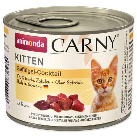 Konzerva ANIMONDA Carny Kitten drůbeží směs  200g