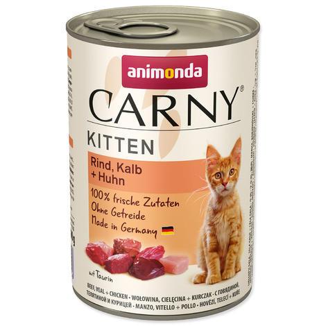 Konzerva ANIMONDA Carny Kitten hovězí + telecí + kuřecí 400g