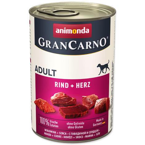 Konzerva ANIMONDA Gran Carno hovězí + srdce 400g