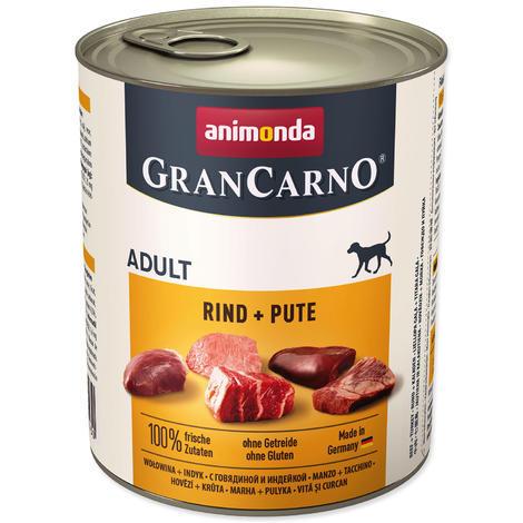 Konzerva ANIMONDA Gran Carno hovězí + krůta 800g
